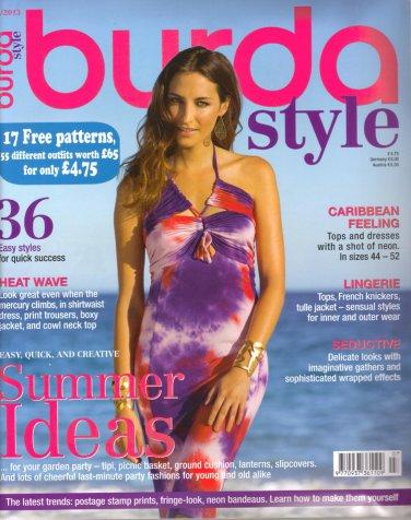 NEW Burda Magazine 07/2013 Uncut Folded Patterns US 2/4-24 (EUR 34-52) English