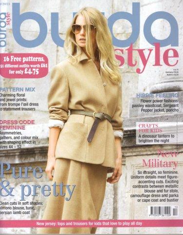 NEW Burda Magazine 10/2013 Uncut Folded Patterns US 2/4-24 (EUR 34-52) English