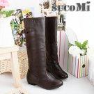 Flat long-barreled high-level women's boots 67002 Knight