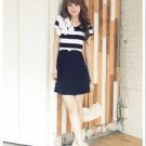 D1006 striped flower dress