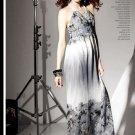 D1011 sexy V-neck bohemian print dress