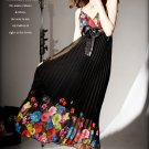 D1013 Korean version of the pleated bow dress