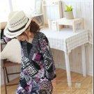 D1027 Korean national flower of light south wind V-neck dress
