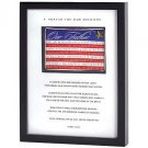Patriotic Soldier's Prayer Shadowbox Millitary Memorabilla