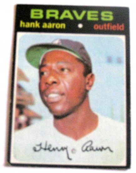 "1971 ""HANK AARON"" #400 Vg-Good Vintage Mlb"