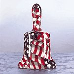 AMERICAN FLAG BELL