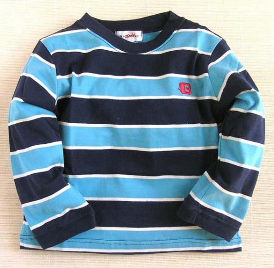Nissen Blue Stripe Long Sleeve T-Shirt