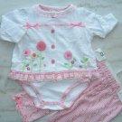 Nannette Baby Girl Romper Set