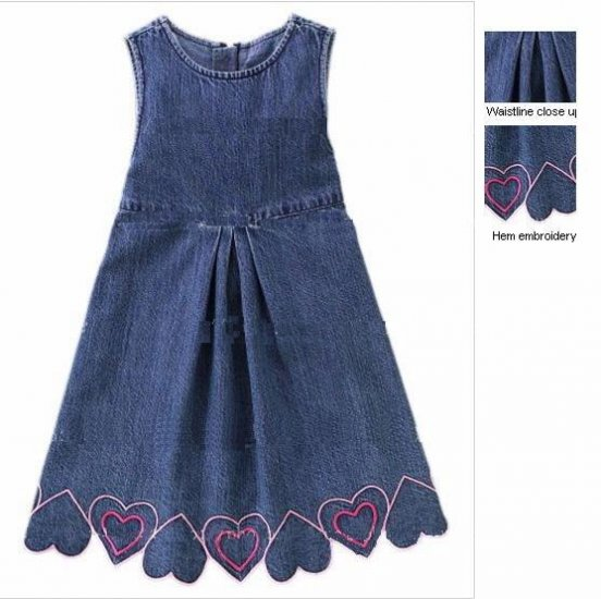 Gymboree Heart Denim Dress