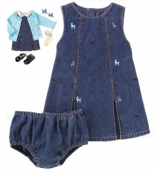 Gymboree Poodle Denim Dress
