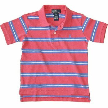 Ralph Lauren Classic Stripe Polo -  P'Red/ Scott (SOLD)