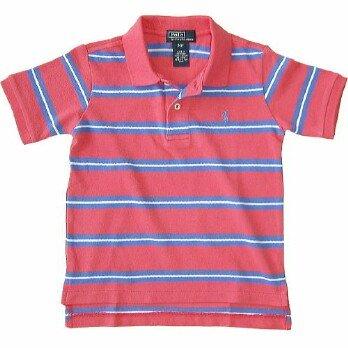 Ralph Lauren Classic Stripe Polo -  P'Red/ Scott (SOLD)