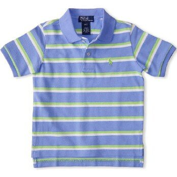 Ralph Lauren Classic Stripe Polo - Regent Blue (SOLD)