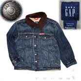 Gap Denim Jacket with brown collar