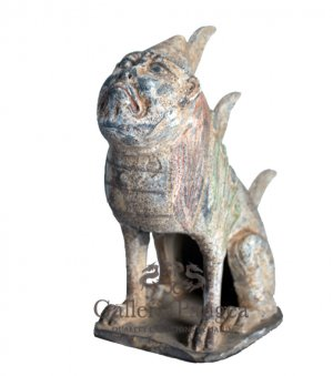 Pottery Statue, 'Man-face Tomb Guardian'