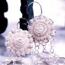 Pure Silver Earrings, 'Sunflower'