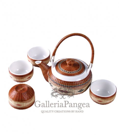 Bamboo Porcelain, '6-piece Tea Set'