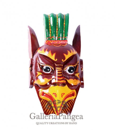 Wooden Nuo Mask, 'the Bird Taoist'