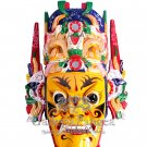 Wooden Nuo Mask, 'Zhang Liao'