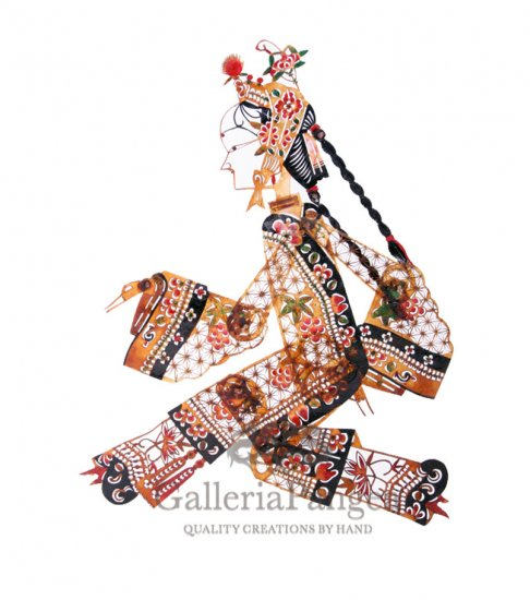 Shadow Play Puppet, 'Young Lady'