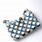 Coconut Handbag, 'Blue Checker'