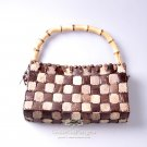 Handmade Handbag, 'Coconut Chocolate'