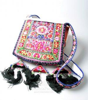 Embroidery Handbag, 'Miao Tradition'
