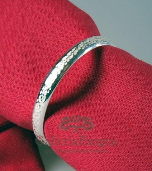Silver Bracelet, 'Stream'