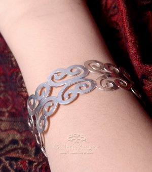 Pure Silver Bracelet, 'Butterfly'