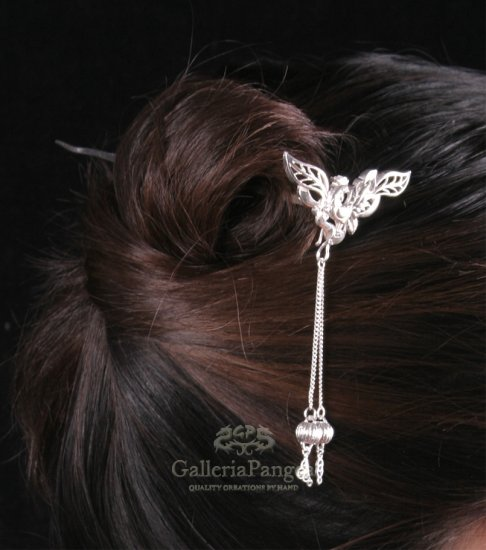 Silver Hairpin, 'Rooster'