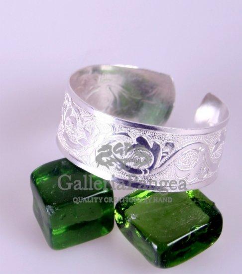 Silver Bracelet, 'Vine'