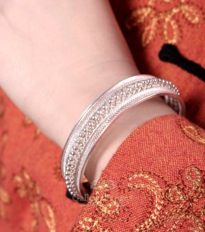 Silver Bracelet, 'In the Waiting Line'