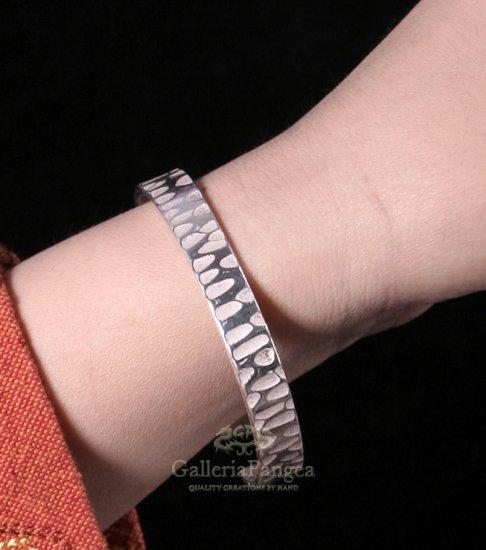 Silver Bracelet, 'Frost, Thin'