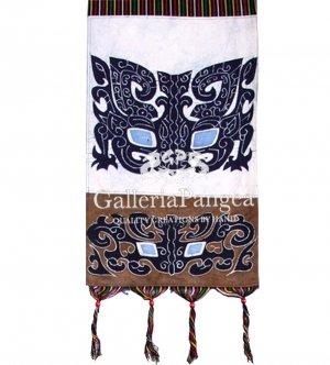 Batik Painting, 'Ancient Bronze Motif Letter Holder'