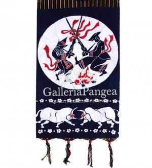 Batik Painting, 'Bull Fight Letter Holder'