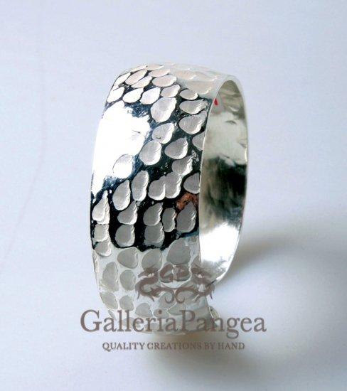 Silver Bracelet, 'Contrast'