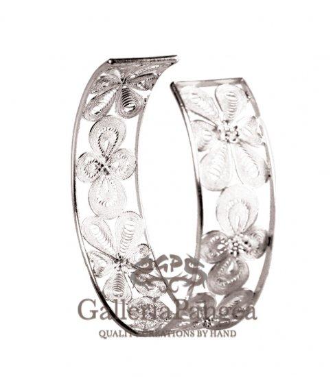 Silver Bracelet, 'Silver Iris'