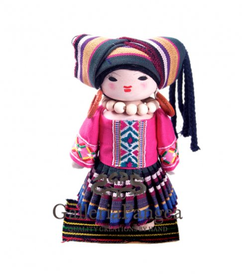 Wooden Doll, 'Shui Ethnic Girl'