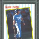 1987 Fleer League Leaders #5 GEORGE BRETT PSA 9 MINT