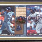 2002 Fleer Fall Classic PUCKETT/BRETT Rival Faction Bat #RF GB-KP