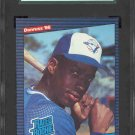 1986 Donruss #28 Fred McGriff RC Graded SGC