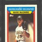 1988 Topps K-Mart #16 Mark McGwire SGC 96 MINT