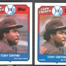 2 - 1989 Topps Cap'n Crunch Cereal #5 TONY GWYNN