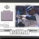 2001 Upper Deck Pros & Prospects Specialty Game Jersey #S-TG TONY GWYNN (Gray Swatch)
