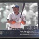 2002 UD Piece of History Tape Measure Heroes #TM12 TONY GWYNN