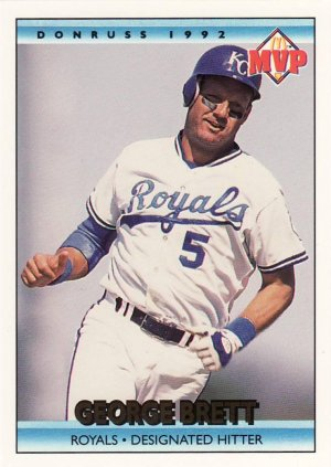 1992 Donruss McDonald's #3 GEORGE BRETT