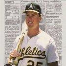 1988 Fleer Headliners #2 Mark McGwire