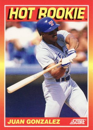 1991 Score Hot Rookies #9 Juan Gonzalez