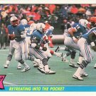 1985 Fleer Team Action #28 WARREN MOON Houston Oilers