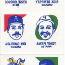 1986 Topps Tattoos #5 of 24 Full Sheet STEVE GARVEY OZZIE GUILLEN